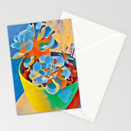 Succulent on the windowsill. Stationery Cards