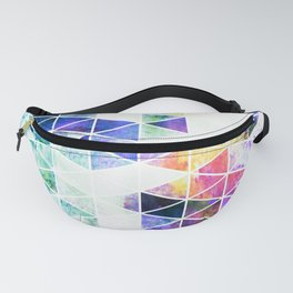 Grungy Bright Triangle Pattern Fanny Pack