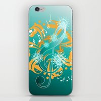 music notes iPhone & iPod Skins featuring Music Notes  by HK Chik
