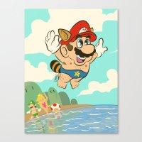 super mario Canvas Prints featuring Super Mario! by Ismael Álvarez