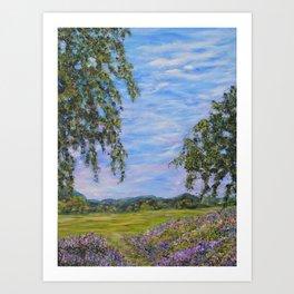 Moments In Time, Impressionism Landscape Art Print