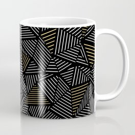 Ab Linear with Gold Repeat Coffee Mug