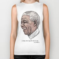 mandela Biker Tanks featuring Mandela by Fortissimo6