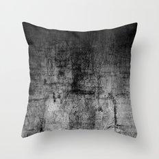 Silver Textured Concrete Pattern Throw Pillow