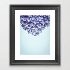Floral fringe - french blue Framed Art Print