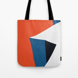 Blue and red composition XV Tote Bag