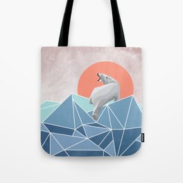 Polar Bear live in North Pole Tote Bag