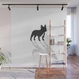 Wild At Heart - Black French Bulldog Wall Mural