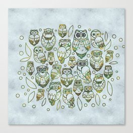 Decorative Owls Canvas Print