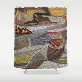 The Land Mosaic Shower Curtain
