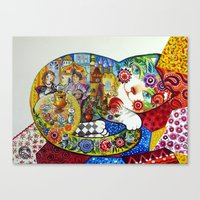 russian Canvas Prints featuring Russian by oxana zaika