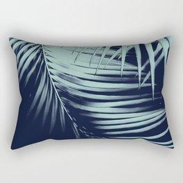 Palm Leaves Blue Summer Night Vibes #1 #tropical #decor #art #society6 Rectangular Pillow