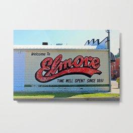 Elmore Ohio Mural Metal Print