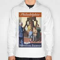 philadelphia Hoodies featuring PHILADELPHIA/vintage by Kathead Tarot/David Rivera