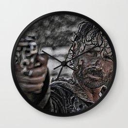 Rick Grimes Artistic Illustration Rough Style Wall Clock