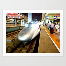 Bullet Train to Shanghai Art Print