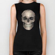 Polygons skull black Biker Tank