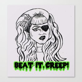 Beat it! Canvas Print