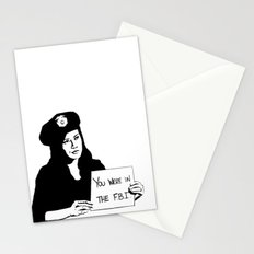 It's been a pleasure serving with you, son. Stationery Cards