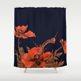 All the Poppies of the Fields Shower Curtain