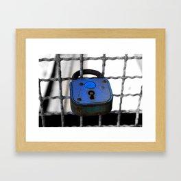 Throw Away The Key Framed Art Print