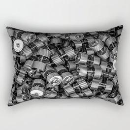 Chrome dumbbells Rectangular Pillow