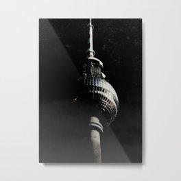 Tour de télévision de Berlin Metal Print