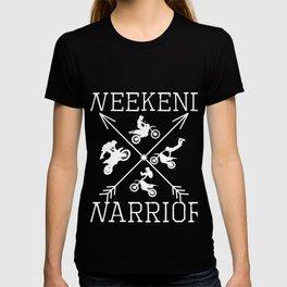 Weekend Warrior Dirt Bike Motorcycle Biking Cross Arrow product T-shirt