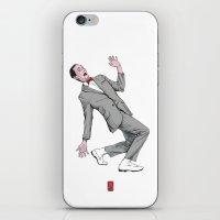 pee wee iPhone & iPod Skins featuring Pee Wee Herman #2 by Christian G. Marra