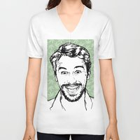 james franco V-neck T-shirts featuring Franco by naidl