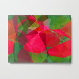 Pink Roses in Anzures 6 Abstract Polygons 2 Metal Print