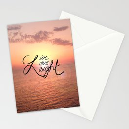Live, Love, Laught Stationery Cards