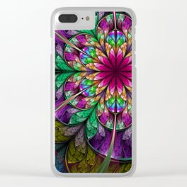 Flavours- Abstract Fractal Artwork Clear iPhone Case