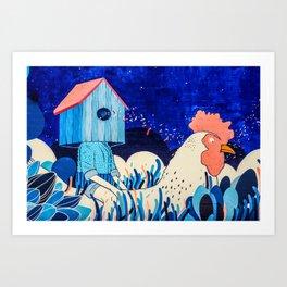 Chicken Rider Art Print