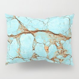 Rusty Cracked Turquoise Pillow Sham