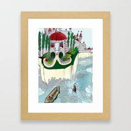 Grey Castle Framed Art Print