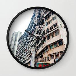 Hong Kong cityscape building Wall Clock