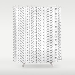 White and gray boho pattern Shower Curtain