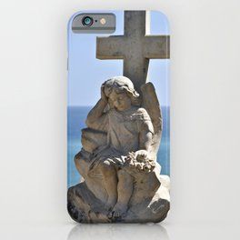 Italian Angel with Cross iPhone Case