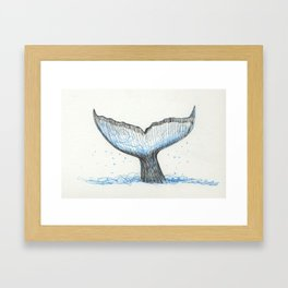 Whale Tail Framed Art Print