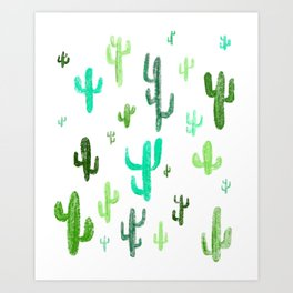 Cactus Drawing Art Print