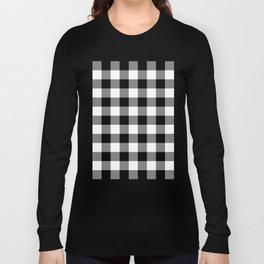 Gingham (Black/White) Long Sleeve T-shirt