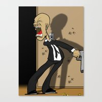 gangster Canvas Prints featuring Gangster by Raydraws