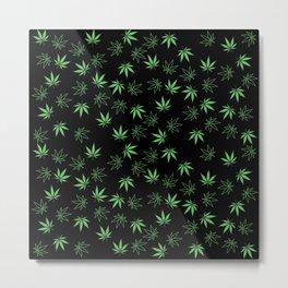 Weed Pattern Metal Print