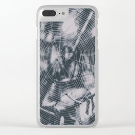 Spider webs Clear iPhone Case