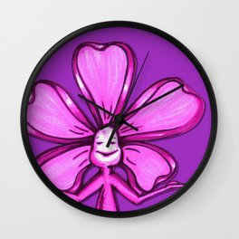 """Violet"" Color Chakra Flowerkid Wall Clock"