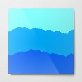 Minimal Mountain Range Outdoor Abstract Metal Print