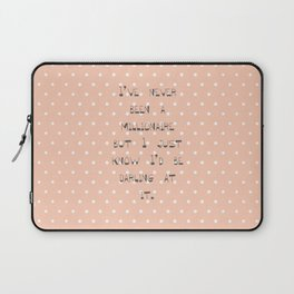 I've never been a millionaire ~ Polka Dots ~  poster ~ typography ~ illistration Laptop Sleeve