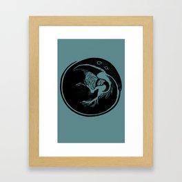 Anteater Block Print Framed Art Print