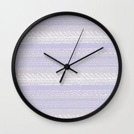 Big Stich Lavender - Knitting Fabric Art Wall Clock